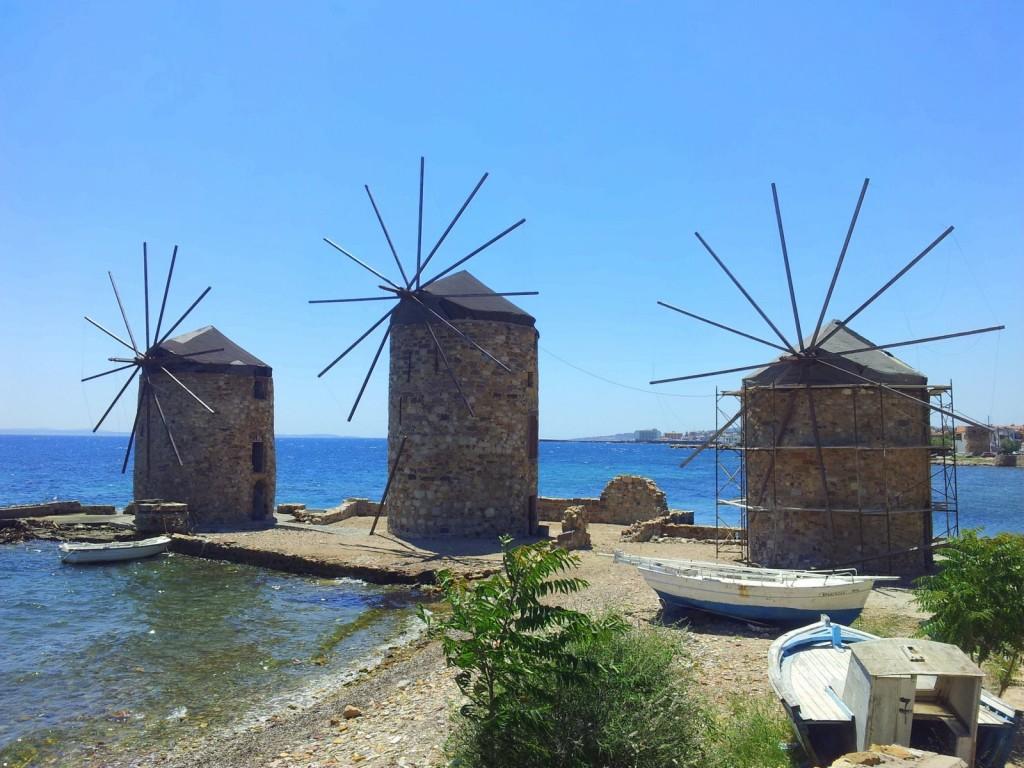 windmills windmühlen chios