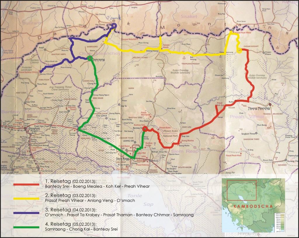 karte kambodscha norden