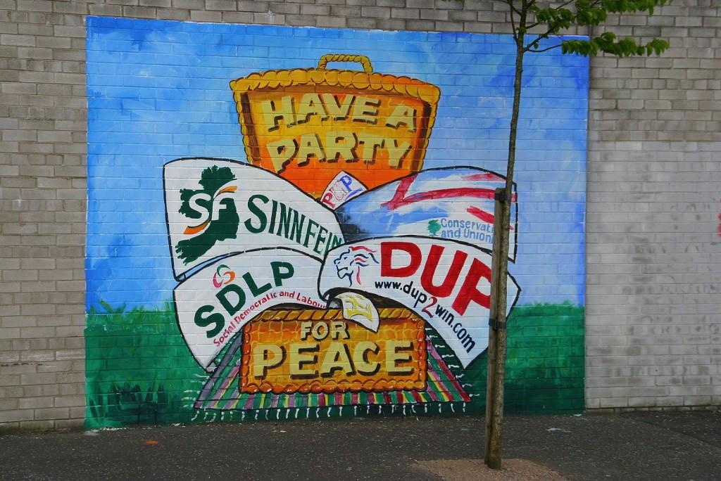 Have a party for peace - richtet sich an die Parteien Nordirlands