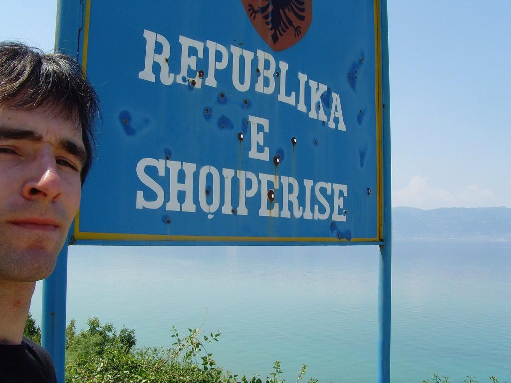 Grenze von Mazedonien zu Albanien