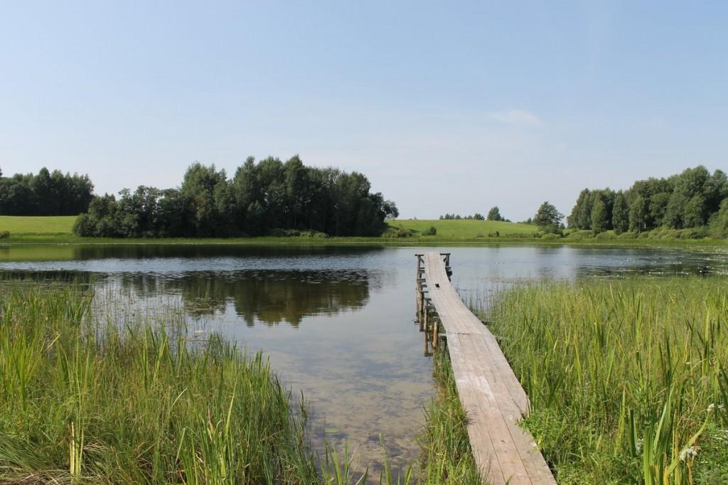 einsamer See in Litauen