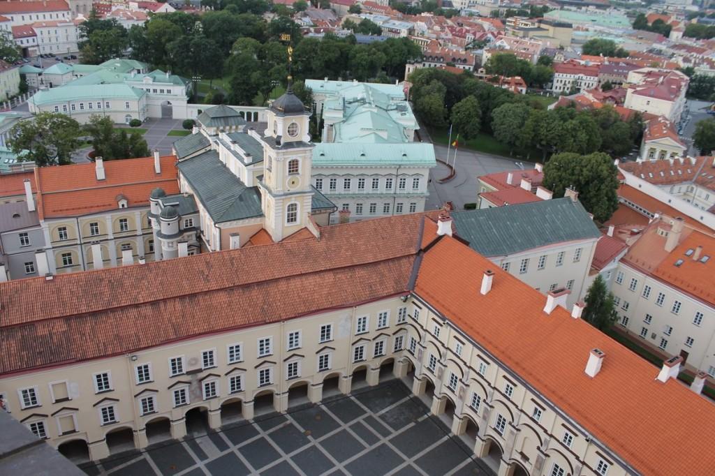 Blick auf den Innenhof der Universität Vilnius