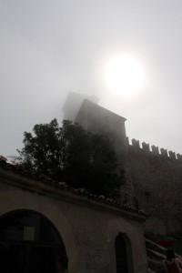 Die Sonne war in den Wolken in San Marino kaum erkennbar.