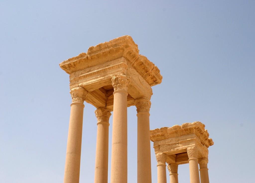Tetraplyon Palmyra Syrien