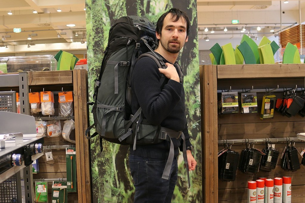deuter aircontact 55+10 backpacking trekking rucksack