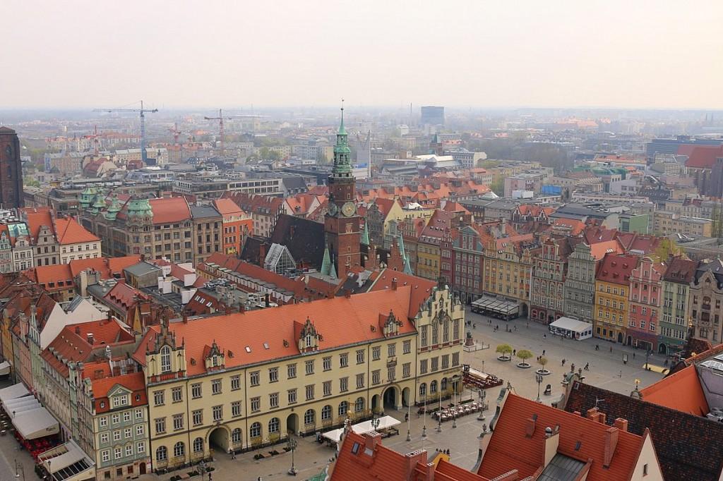 Aussicht wroclaw breslau marktplatz elisabethkirche