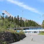 Skisprung Schanze Holmenkollen Skisprungschanze Oslo Fjord