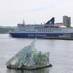 Crown Seaways DFDS im Hafen Oslo