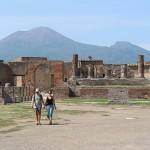 Pompeji Forum Vesuv Panorama