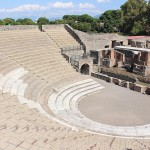 Theater Pompeji Blick in die Arena.