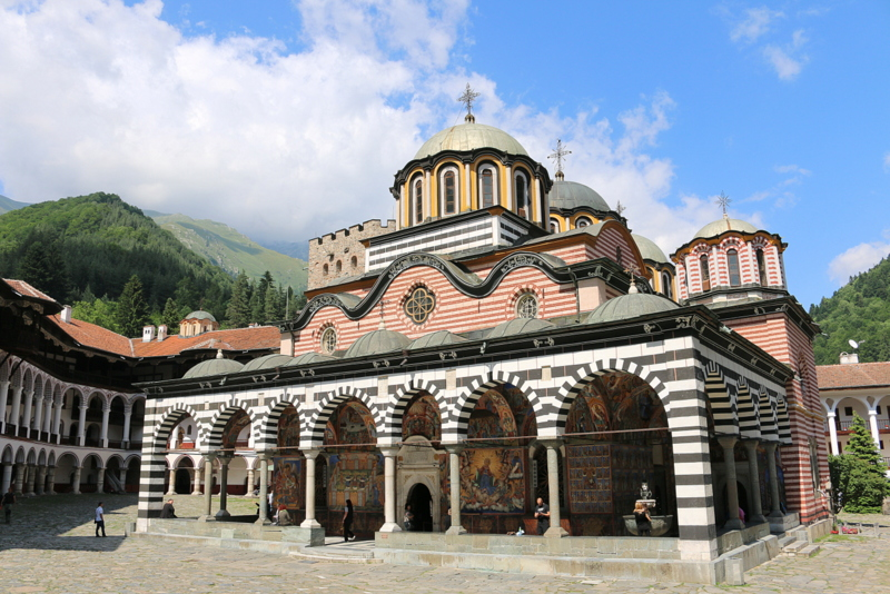 Klosterkirche Rila Gebirge Kloster Bulgarien