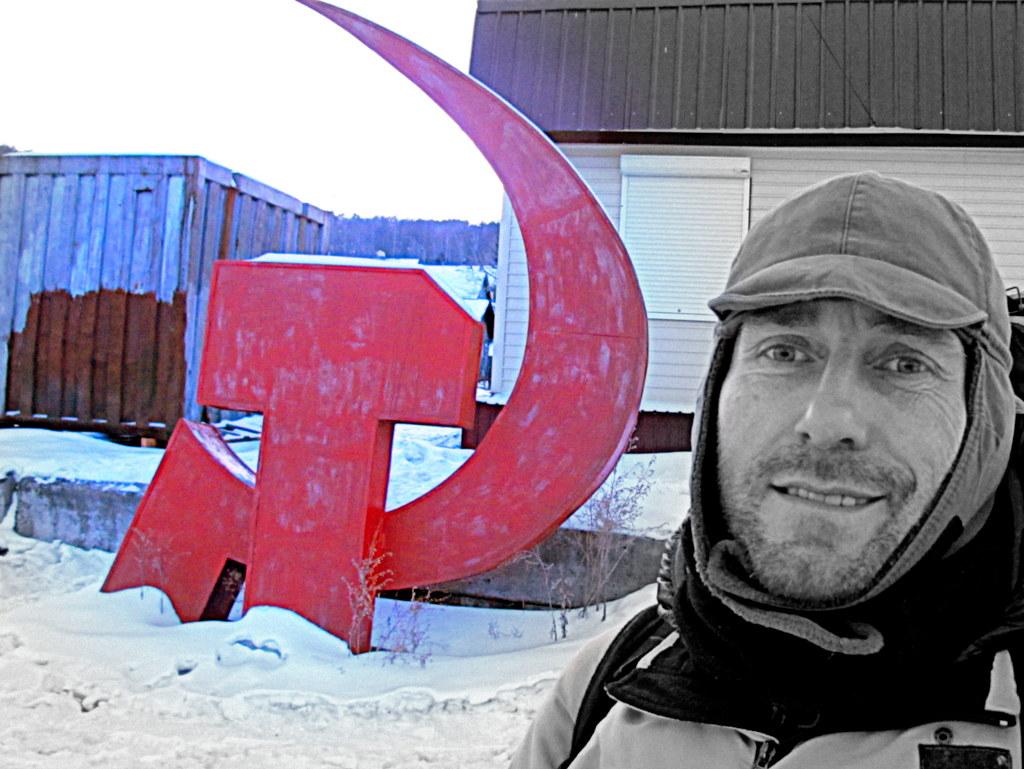 Hammer und Sichel in Sibirien