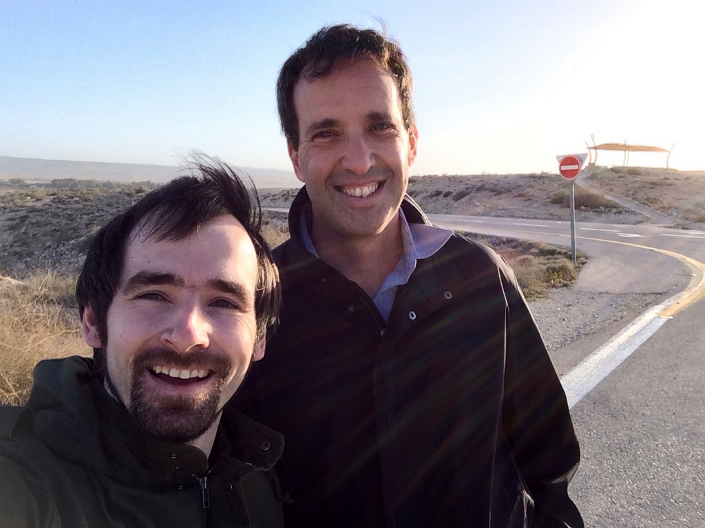 Nir kam gerade aus Sderot als er mich in Ber'sheva aufgegabelt hat.