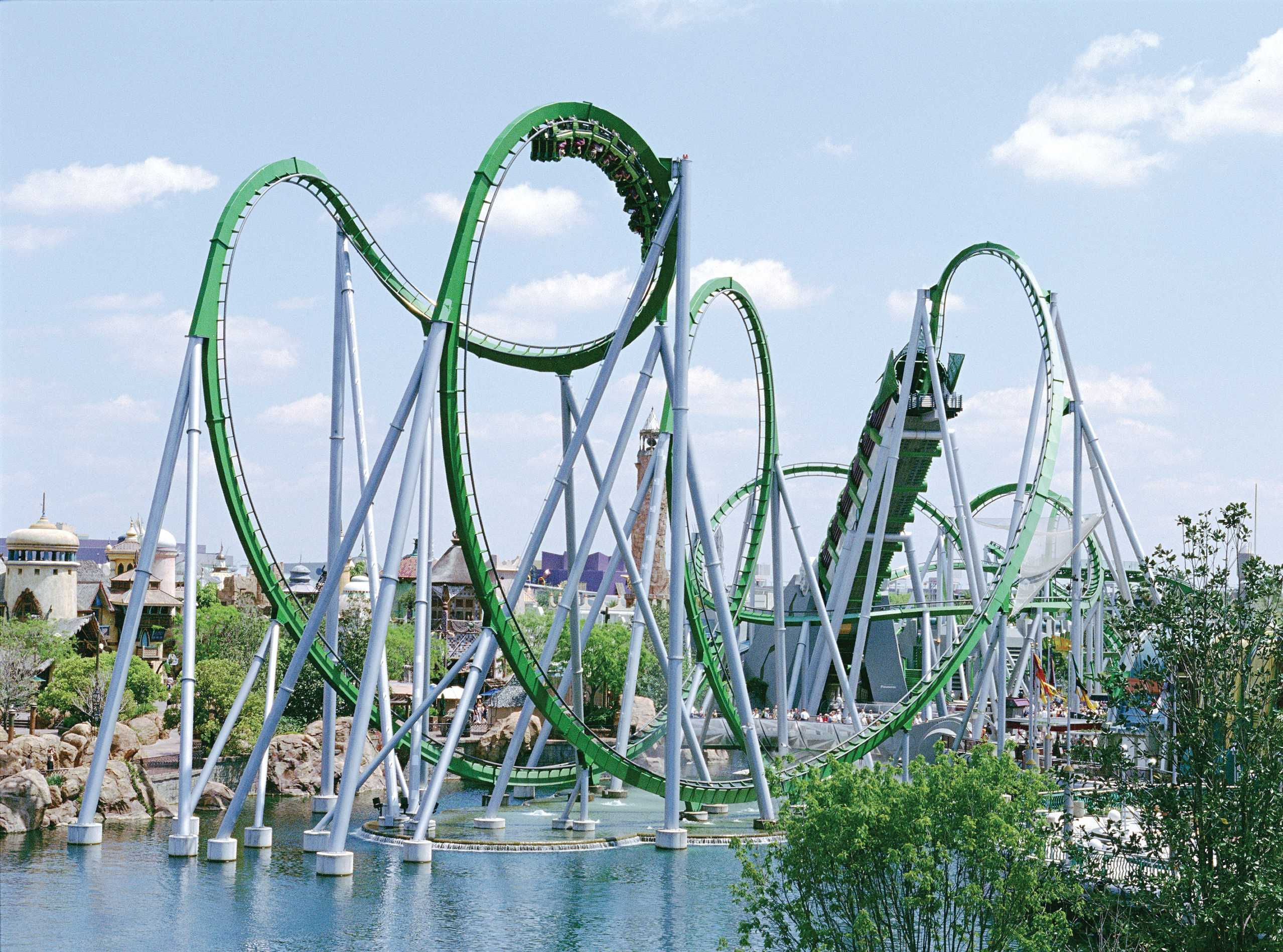 Welcher Freizeitpark wird es? Hier der Incredible Hulk Coaster in den Universal Resort-Islands of Adventure. (Foto: Visit Florida)