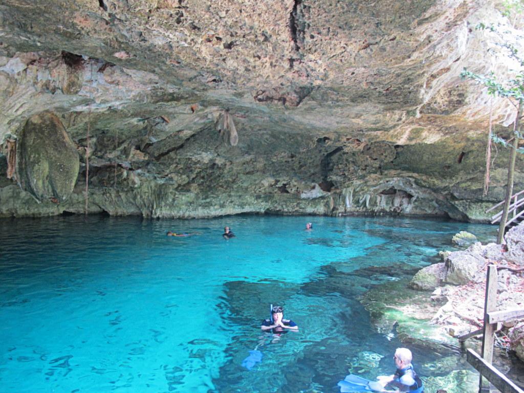 In den Cenotes konnte man prima schwimmen und tauchen. Auch Fledermäuse fühlen sich hier pudelwohl.