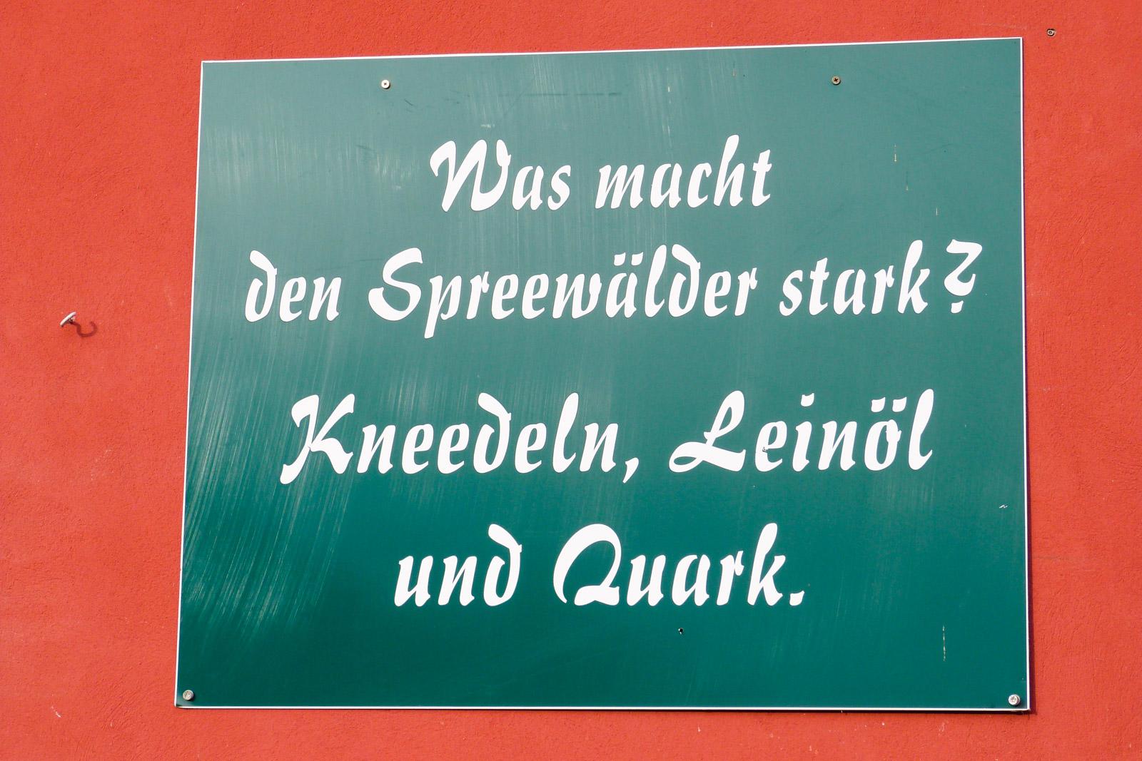 Das Essen in Brandenburg hab ich ganz vergessen zu erwähnen.
