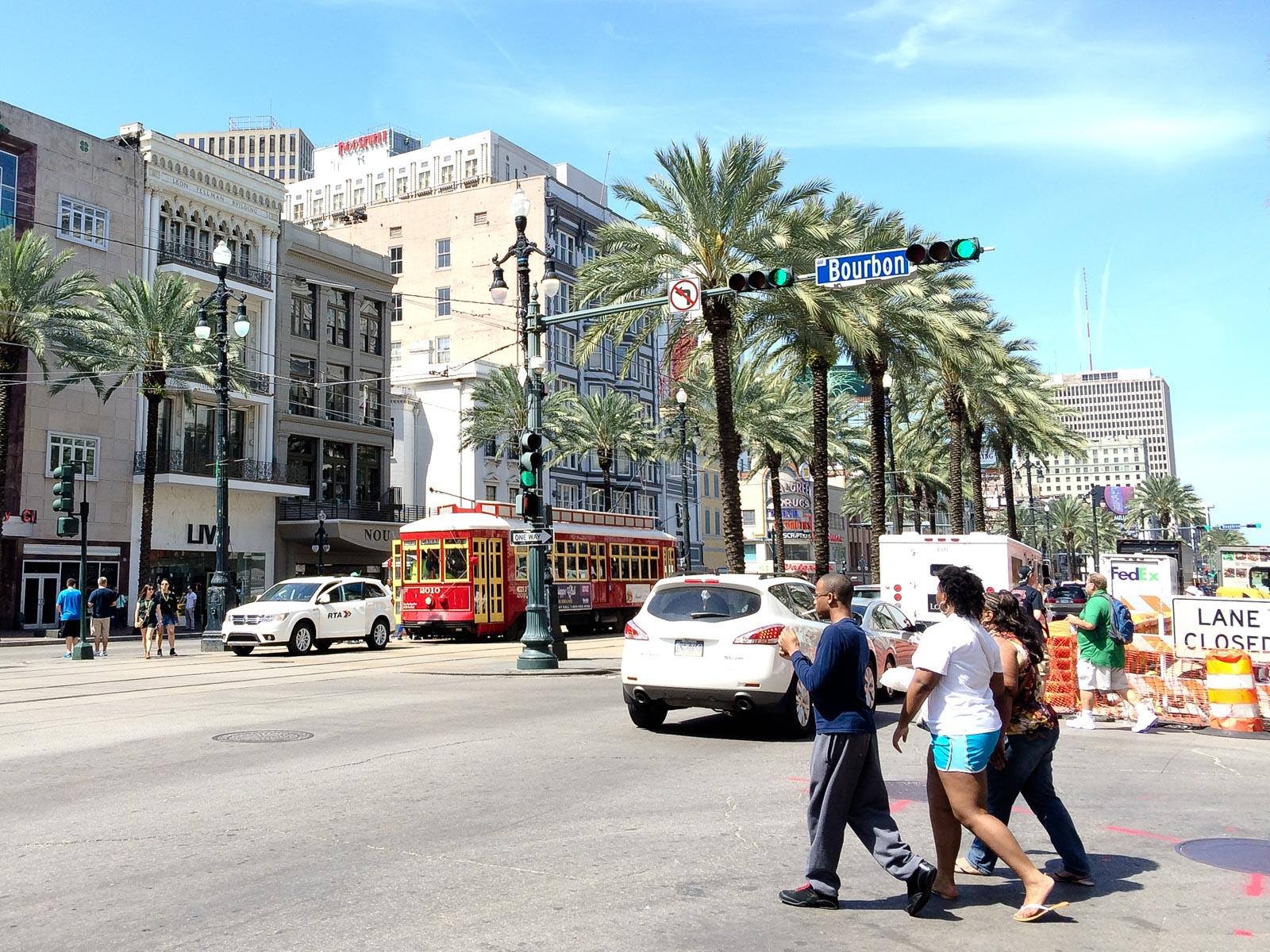 Die Straßenbahnen oder auch Street Cars gehören zum Bild von New Orleans einfach dazu.