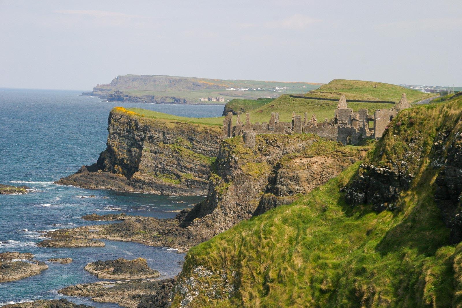 Coast in Northern Ireland, Great Britain.
