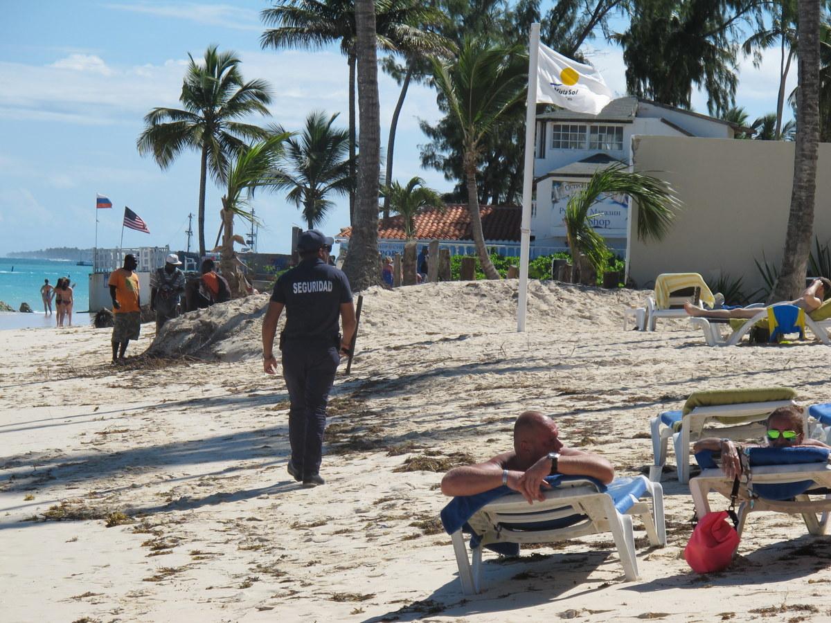 Bewachter Strand in der Dominikanische Republik