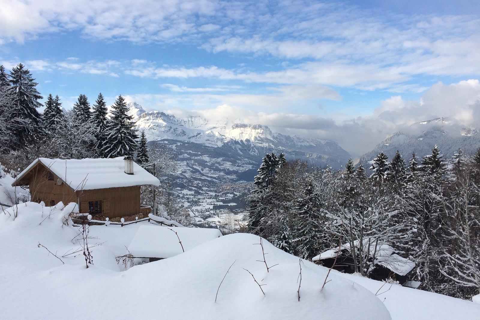 Bei unserer Wanderung von Le Bettex nach Saint Gervais durch den Schnee, konnten wir unter anderem diesen Ausblick genießen.
