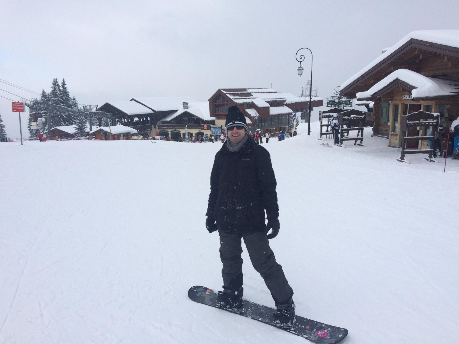 Snow Boarding in Saint Gervais ist auf jeden Fall ein cooles Erlebnis.