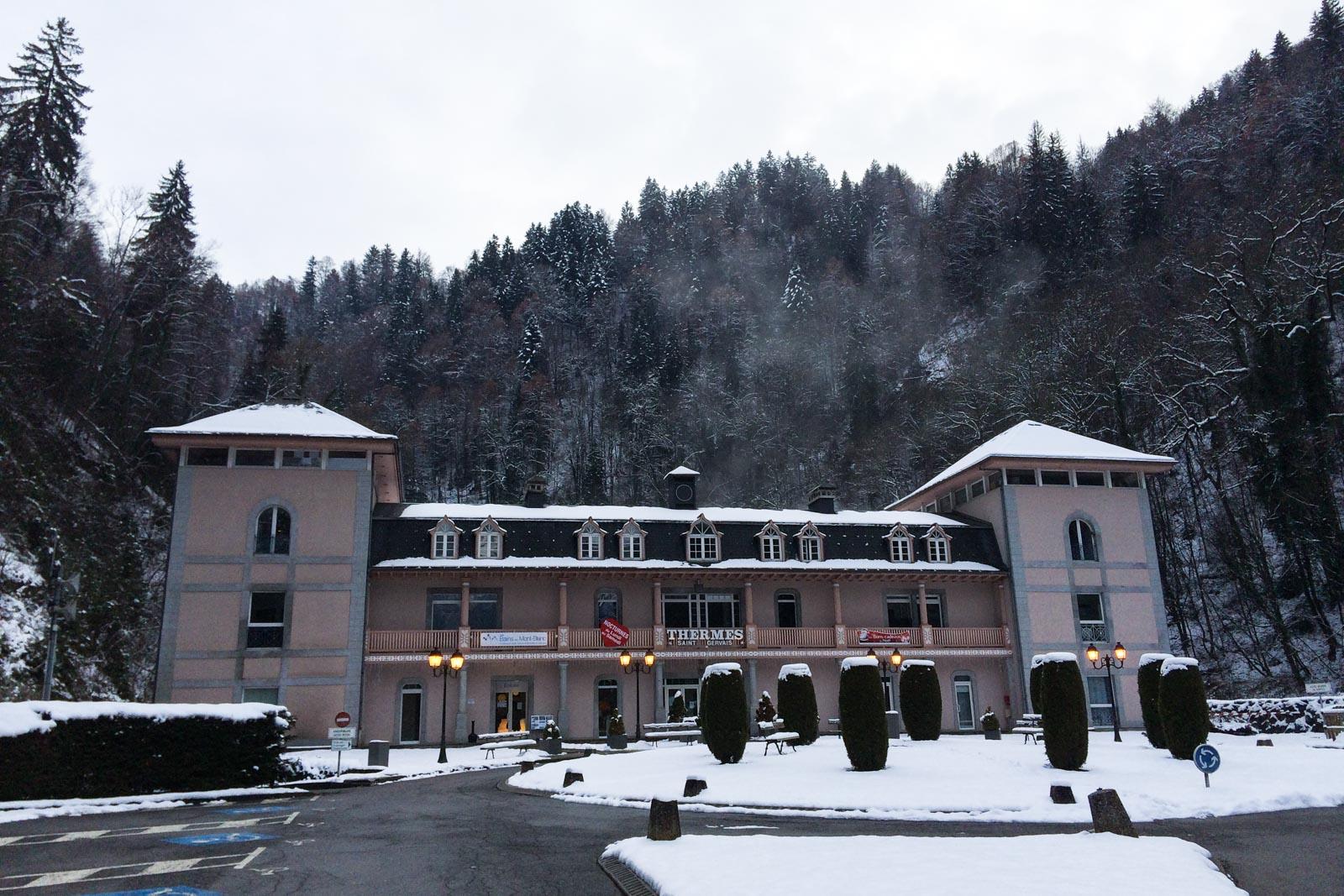 Die Thermen von Saint Gervais lohnen sich trotz des hohen Eintrittspreises. Nur war das Fotografieren darin leider nicht gestattet.