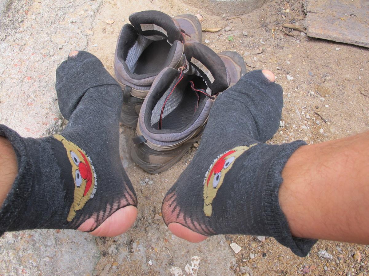 Die Socken gehen noch!