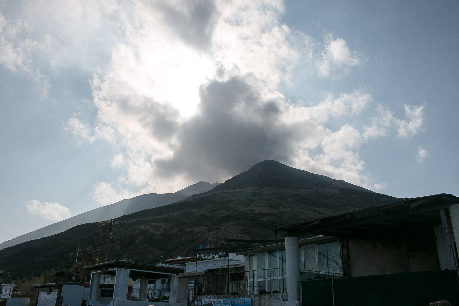 Touren zum Vulkan von Stromboli waren wegen des schlechten Wetters nicht möglich.