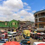 Kumasi Straßen am Central Market