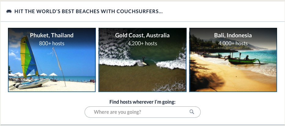Fake profiles Couchsurfing