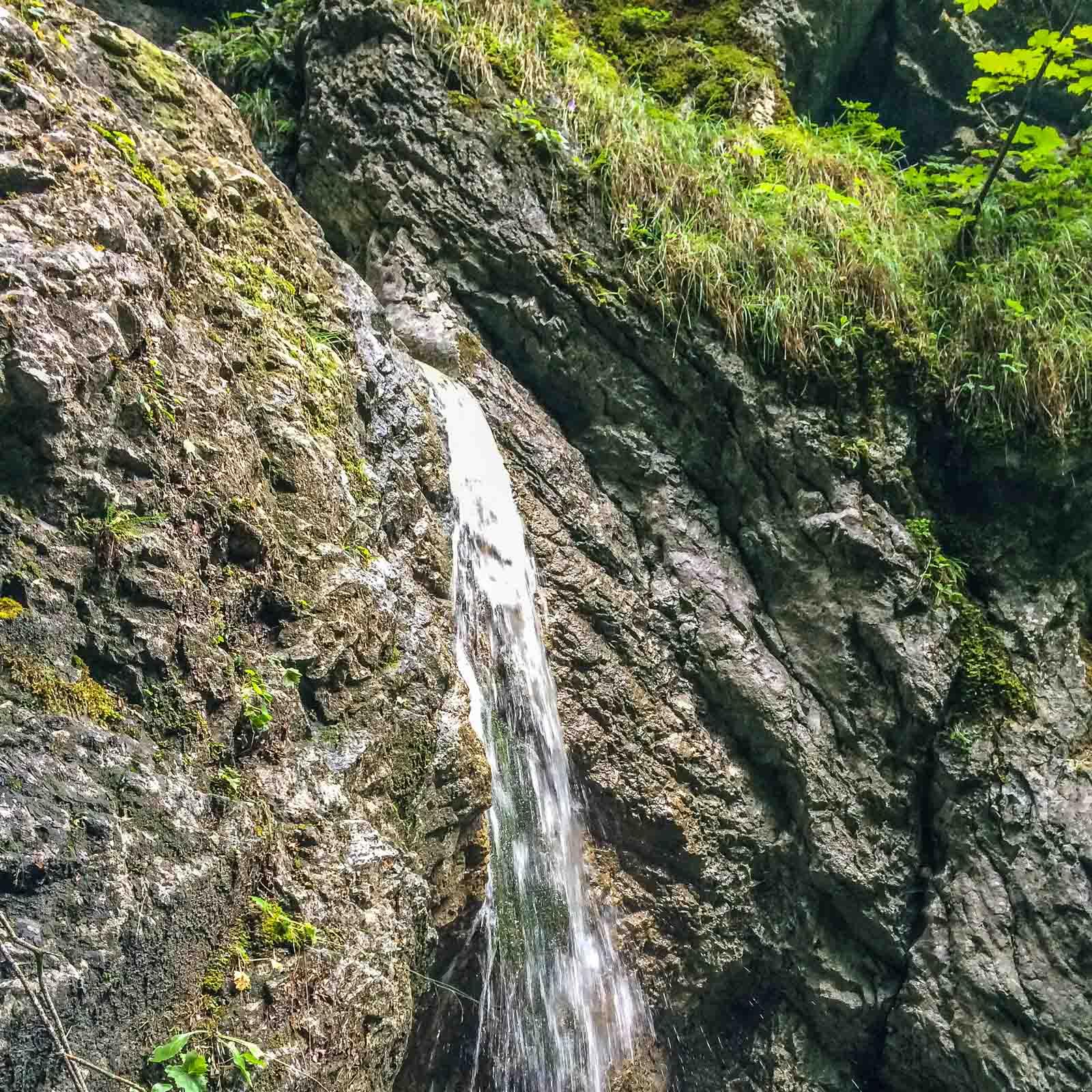 Aus allen Richtungen strömt Wasser in den kleinen Fluss. Die Wasserfälle im Slovensky Raj sind dabei bis zu 70 Meter hoch.