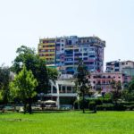 Tirana bunte Häuser