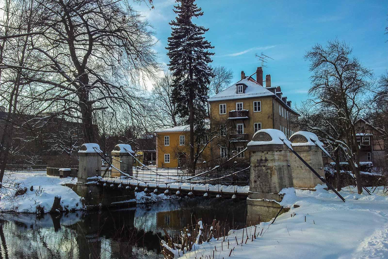 Hängebrücke Ilmpark Weimar